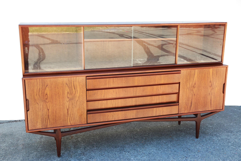 Danish Modern Credenza For Sale : Mcm teak credenza vintage mid century danish modern