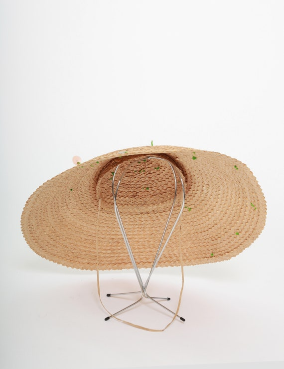 40s Asian straw hat | Vintage 1940s coolie Conica… - image 3