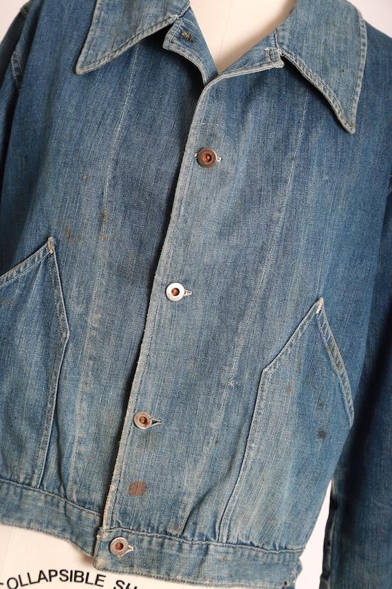 40s jean jacket | vintage 40s denim jacket | 1940… - image 3