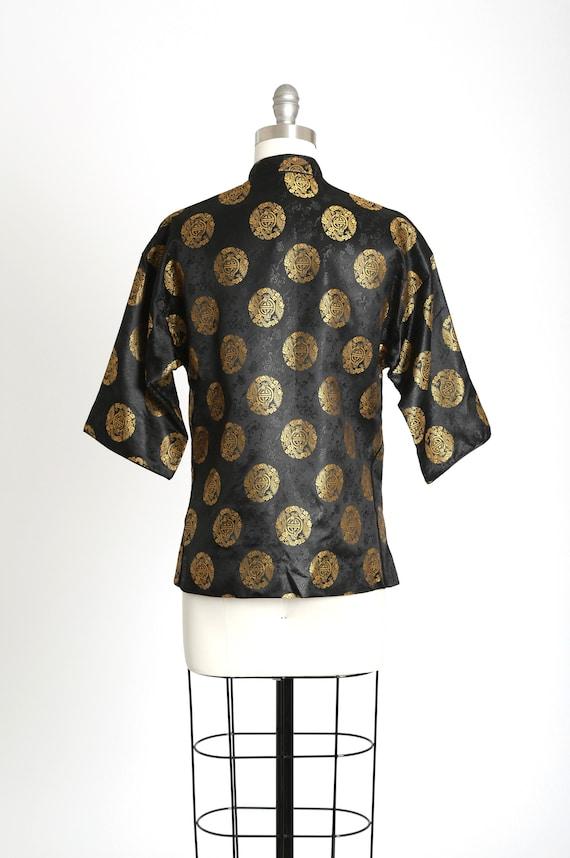 40s Pajama blouse | Vintage 40s silk Oriental Jap… - image 8