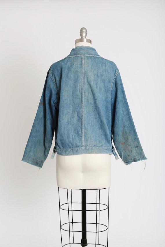 40s jean jacket | vintage 40s denim jacket | 1940… - image 9