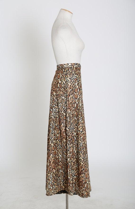 Vintage 60s 70s leopard print palazzo pants - image 7