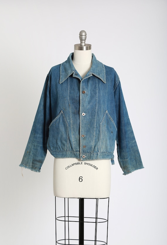 40s jean jacket | vintage 40s denim jacket | 1940s