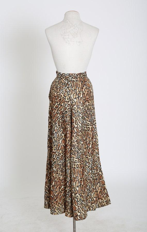 Vintage 60s 70s leopard print palazzo pants - image 9