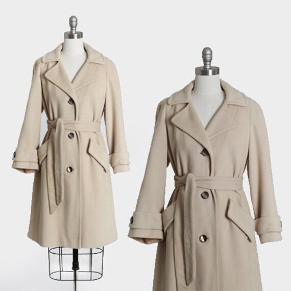 Superior Quality cashmere coat | Vintage 50s beige