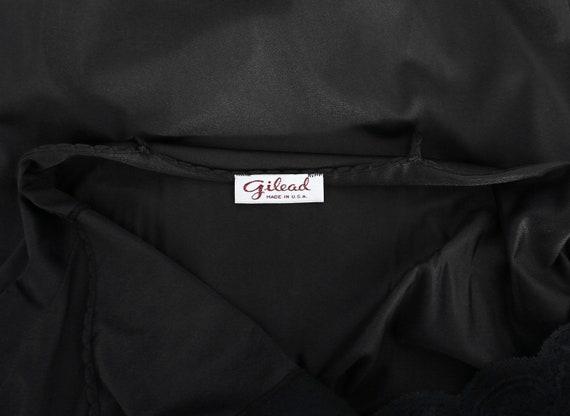 Gilead slip dress | Vintage 70s black floral maxi… - image 7