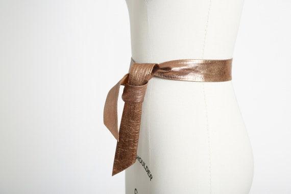 50s Gold leather belt - image 2