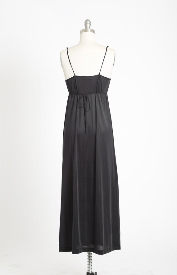 Gilead slip dress | Vintage 70s black floral maxi… - image 6