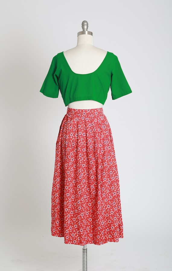 50s novelty print skirt | Vintage 50s novelty hea… - image 9
