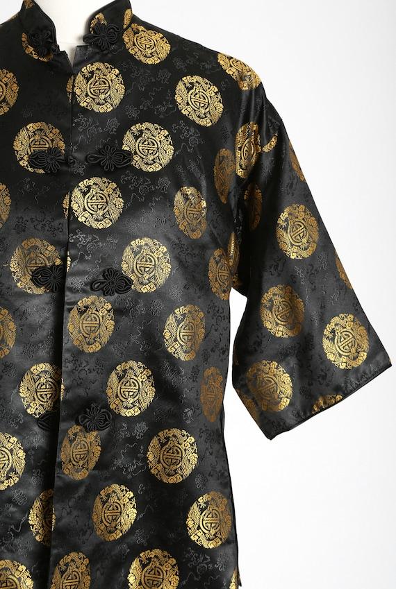 40s Pajama blouse | Vintage 40s silk Oriental Jap… - image 3