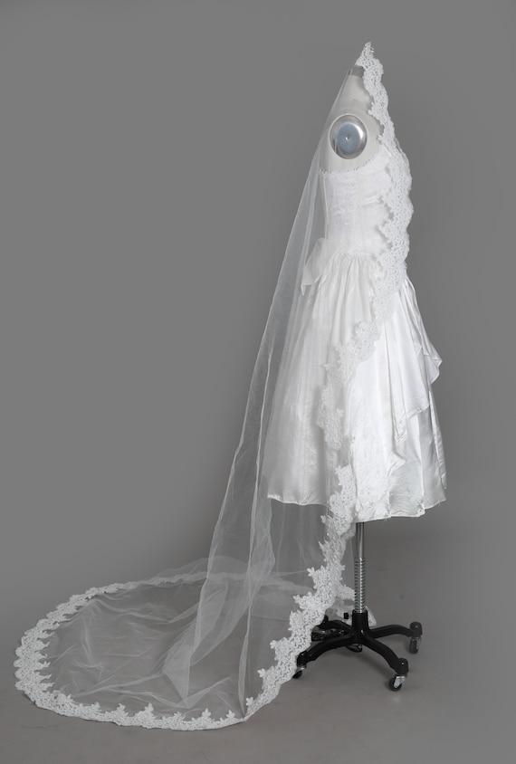 Gunne Sax Wedding Dress   Vintage 80s sweetheart … - image 8