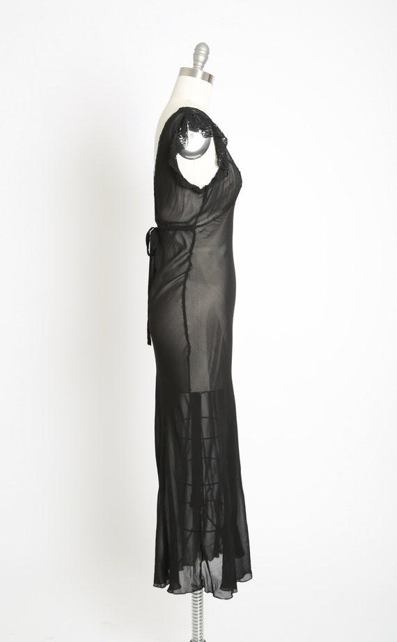 Bias cut slip dress | Vintage 40s black silk lace… - image 5
