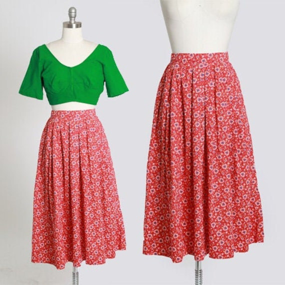 50s novelty print skirt | Vintage 50s novelty hear
