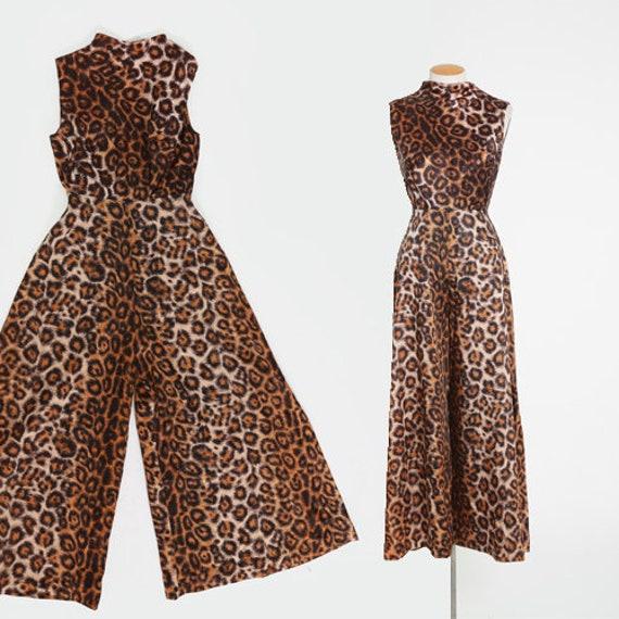 Alice Leopard print jumpsuit | vintage 60s leopard