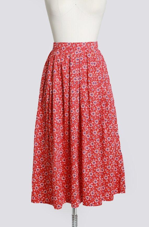 50s novelty print skirt | Vintage 50s novelty hea… - image 2