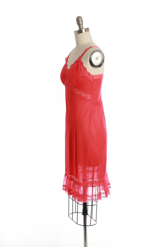 Bias cut slip dress   Vintage 40s 50s Hot pink sl… - image 6