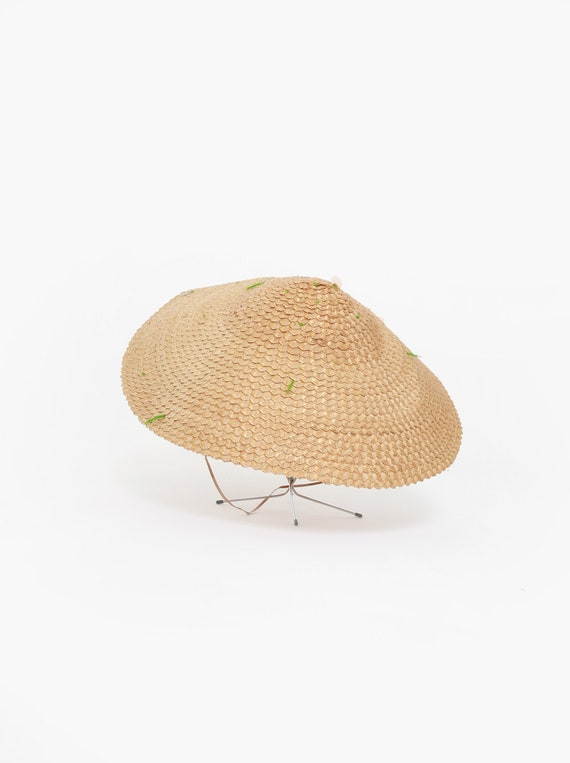 40s Asian straw hat | Vintage 1940s coolie Conica… - image 5