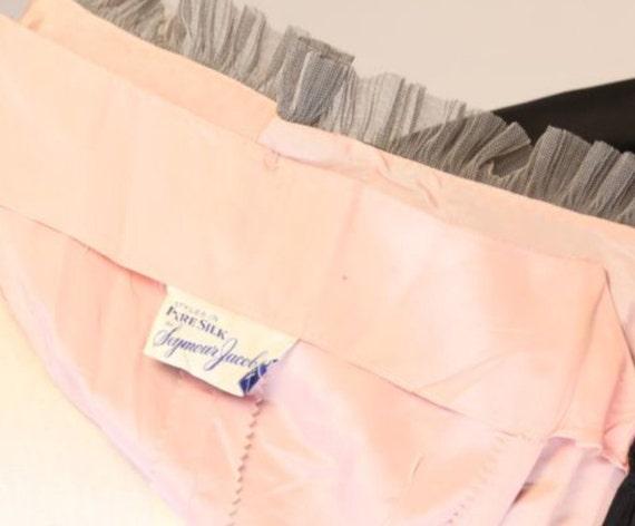 50s full cocktail party DRESS wedding skirt Seymour lace Vintage Silk dress HPBqA