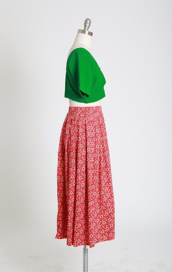 50s novelty print skirt | Vintage 50s novelty hea… - image 6