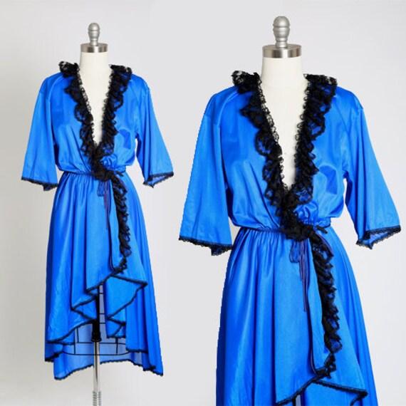 FREDERICKS OF HOLLYWOOD robe | Vintage 80s Fredric