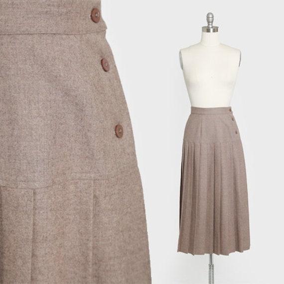 Vogue Alley skirt | Vintage 90s Pleated wool skirt