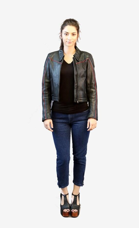 Motorcycle jacket | Vintage 80s Black Leather Mot… - image 7
