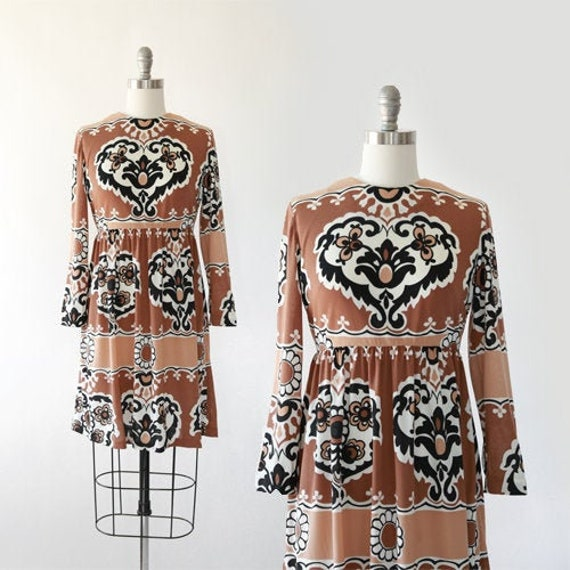 Heart mini dress | Vintage 60s dress | 1960s flora