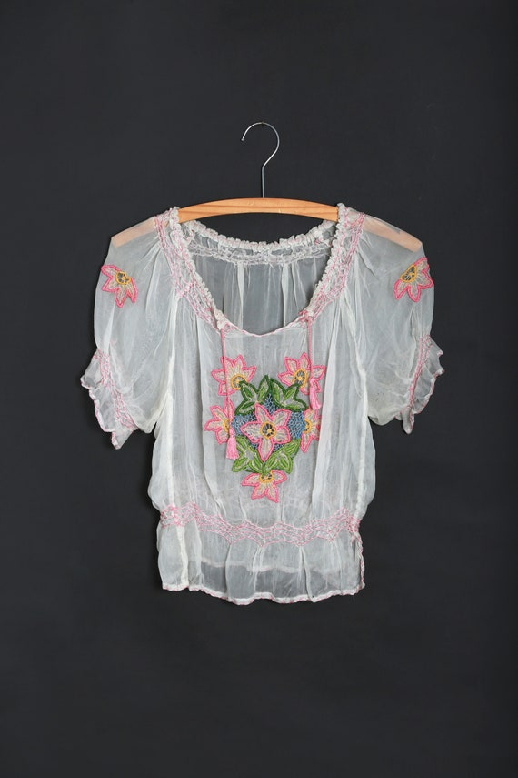 30s Hungarian top | Antique vintage 1930s Hungaria