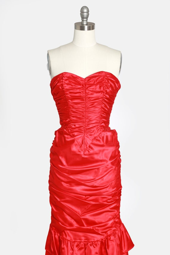 Gunne Sax victorian dress | Vintage Gunne Sax RED… - image 3