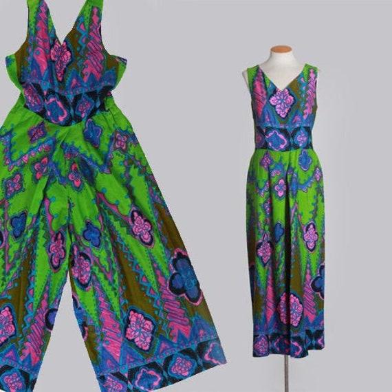 Alice Polynesian jumpsuit   Vintage 60s Psychedeli