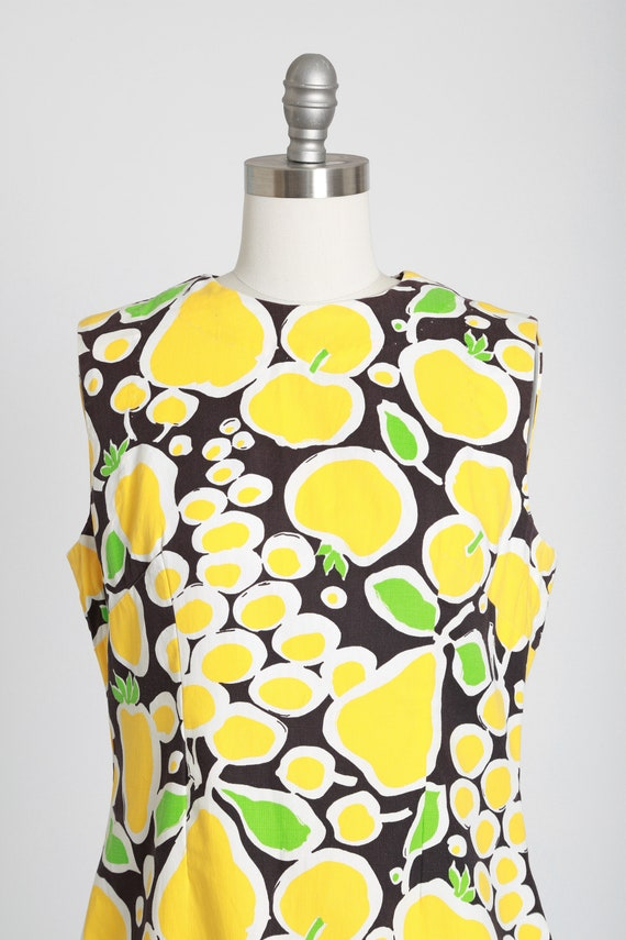 Fruit mini dress | Vintage 60s MOD fruit dress | … - image 3
