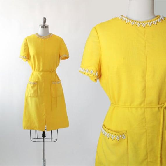 Carlye Linen dress   Vintage 60s Moygashel Linen s
