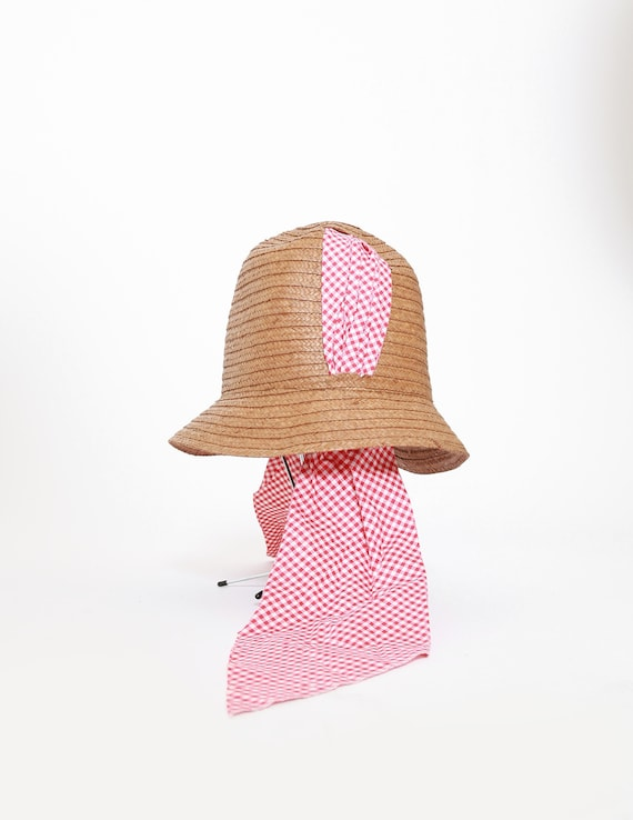 40s Italian straw hat | Vintage 1940s Bermuda natu