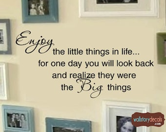 Family Enjoy The Little Things In Life Picture Wall Display