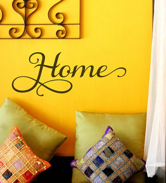 Home Family Vinyl Wall Decal Wall Art Wall Lettering