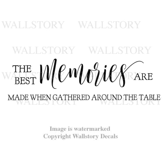 family wall quotes the best memories are made when gathered