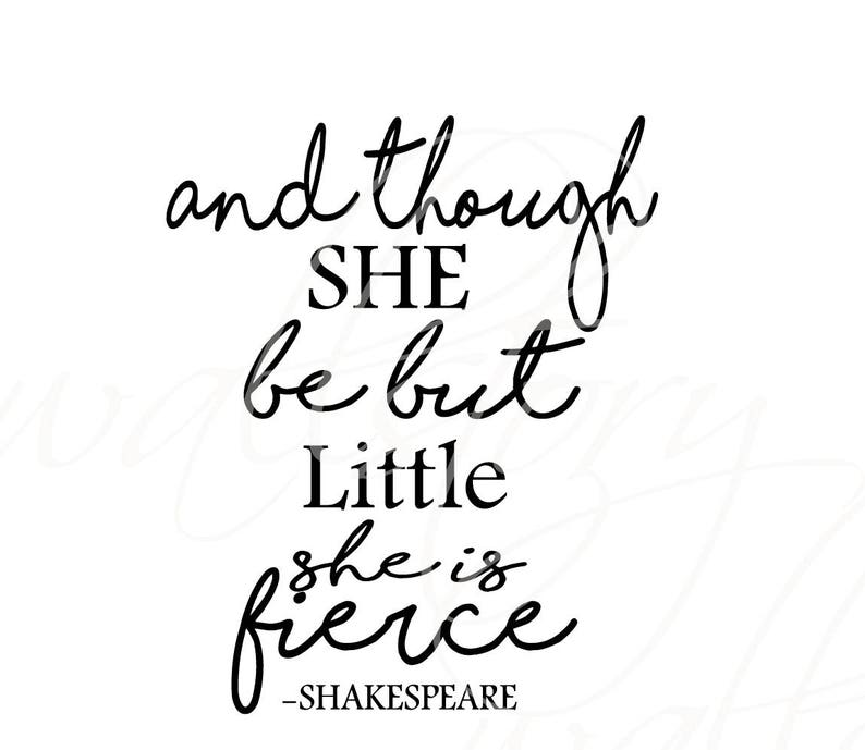 Nursery Wall Quotes And Though She May Be But Little She Is Etsy