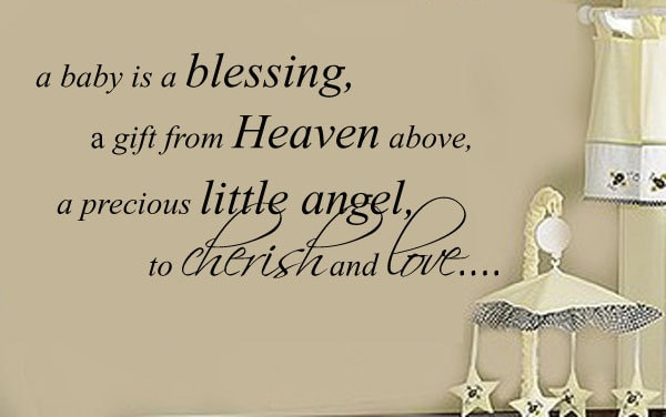 A Baby Is A Blessing Removable Wall Decal Baby Girl Or Boy Nursery