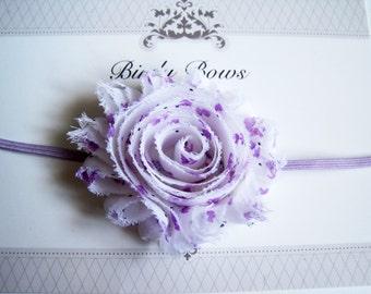 Purple Flower Headband, Baby Headbands, Newborn Headbands, Infant Headbands, Baby Girl Bow, Infant Hair Bow,