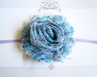 Aqua Flower Headband, Baby Headbands, Newborn Headbands, Infant Headbands, Baby Girl Bow, Infant Hair Bow,