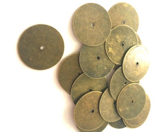 24pc 5.5x5mm antique bronze finish metal oval beads-r0028