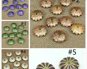 2pc 12x8mm teardrop shape handmade  Cloisonne Beads-pls pick your color