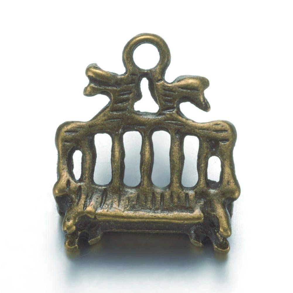 12pc antique bronze finish metal glube on bails-8049