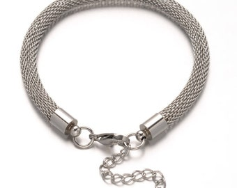 1pc 304 Stainless Steel Network Chains Bracelet-10483