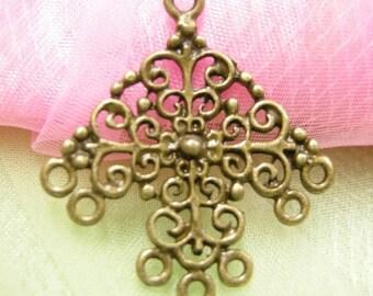4pc antique bronze chandelier component-3821