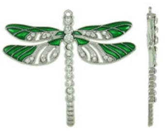1pc  65x56x5mm zinc alloy enamel with rhinestone dragonfly pendant-bb67