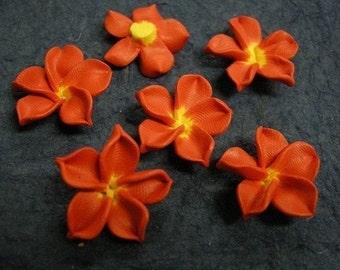 6pc fimo clay flower shape bead-1726