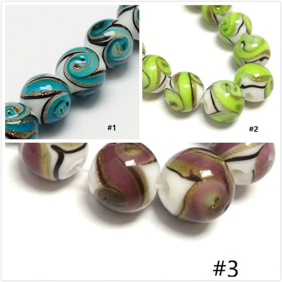 1 strand 6mm Plated Round Electroplated Glass Beads-pls pick a color