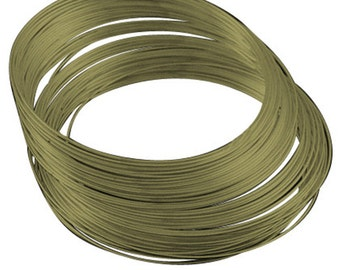 11.5cm antique bronze finish memory wire 25 loops for necklace-6170K