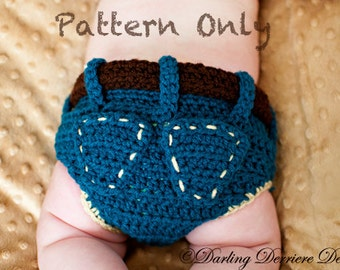 PDF Instant Download Denim Diaper Cover Crochet Pattern